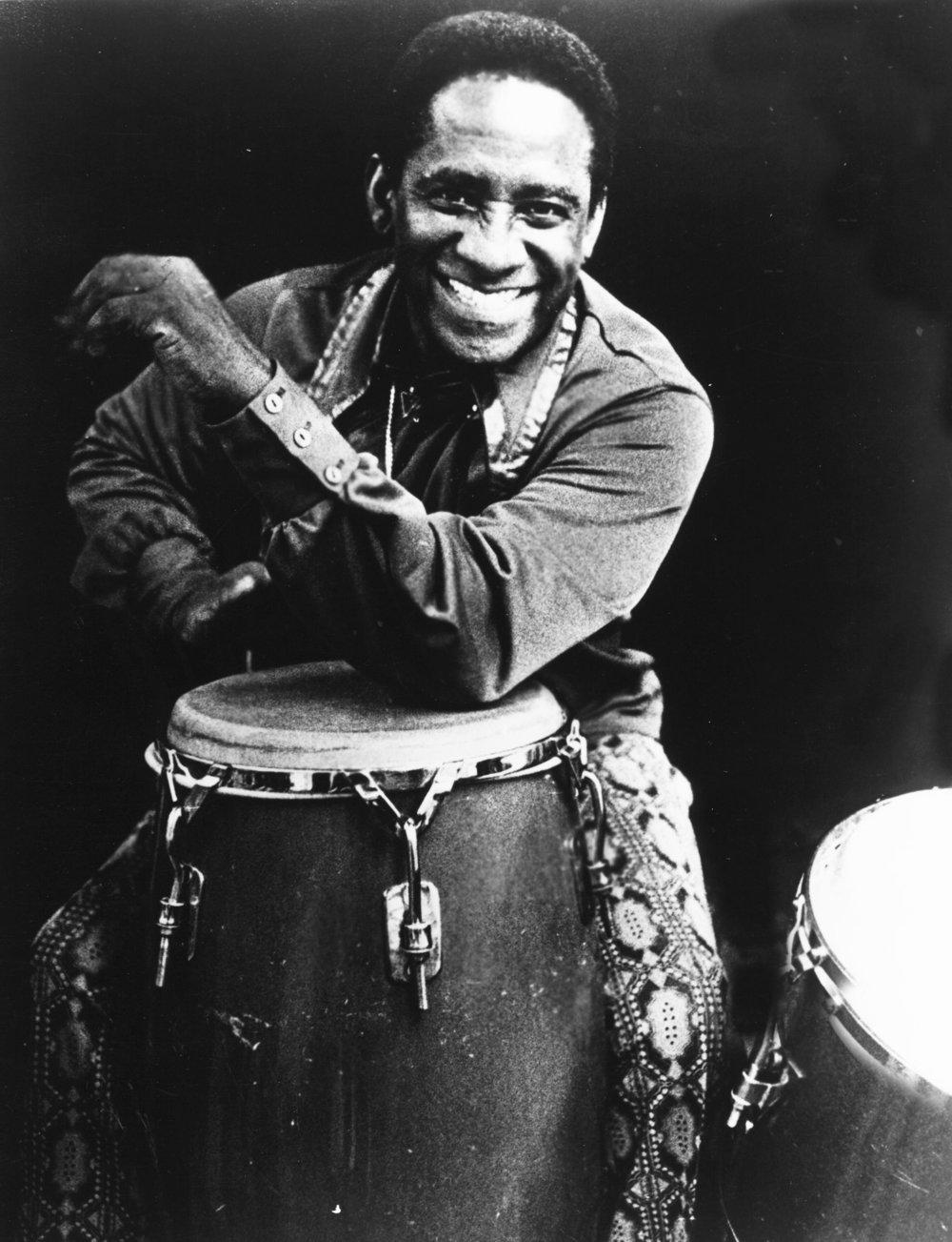 Percussionist Mongo Santamaria