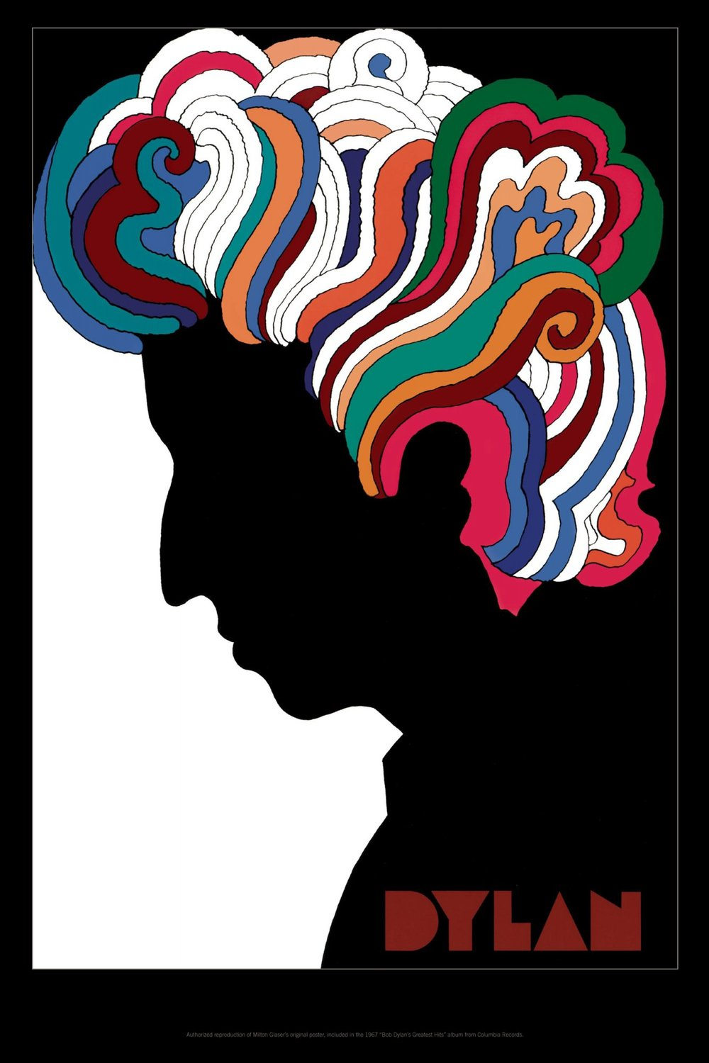 Milton Glaser, poster for Bob Dylan's Greatest Hits, 1967