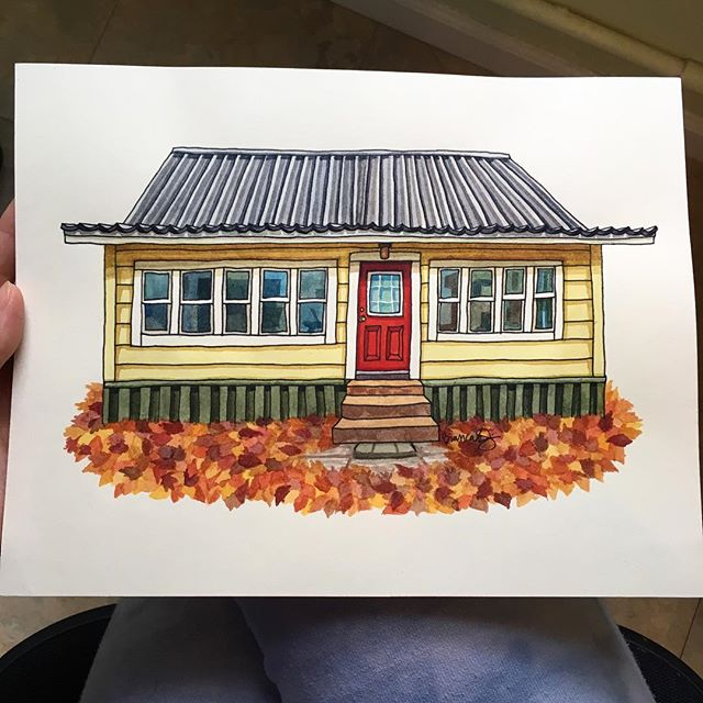 I'm going to stop accepting commission requests that will be done in time for Christmas this week. This is your last chance to commission a house portrait as a Christmas gift! DM or email me for details. 🍁🍂🍃🎄