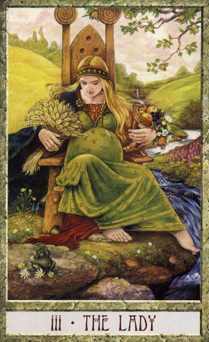 The Druid Craft Tarot:   Opening to Love, Trust, and Abundance - Open yourself to the fertile nurturing power of the Goddess   .