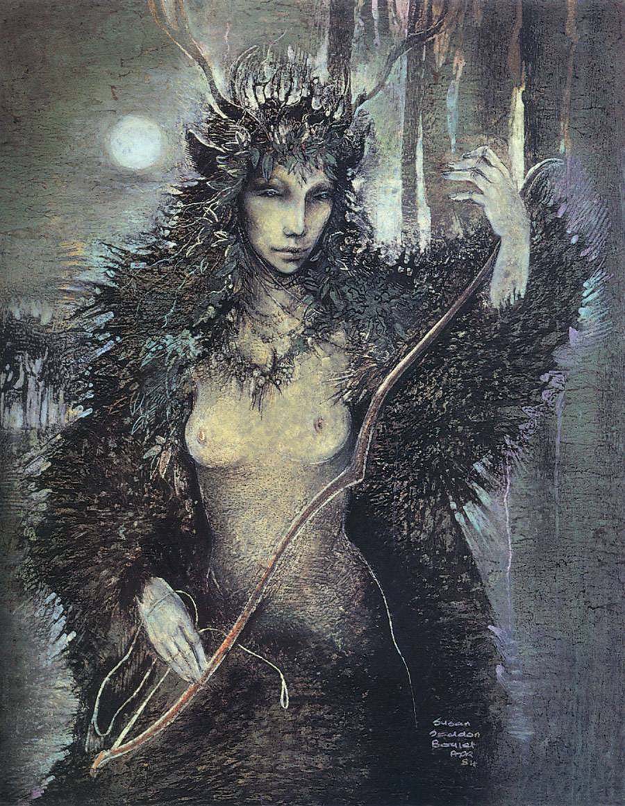 Painting: Diana by Susan Seddon Boulet