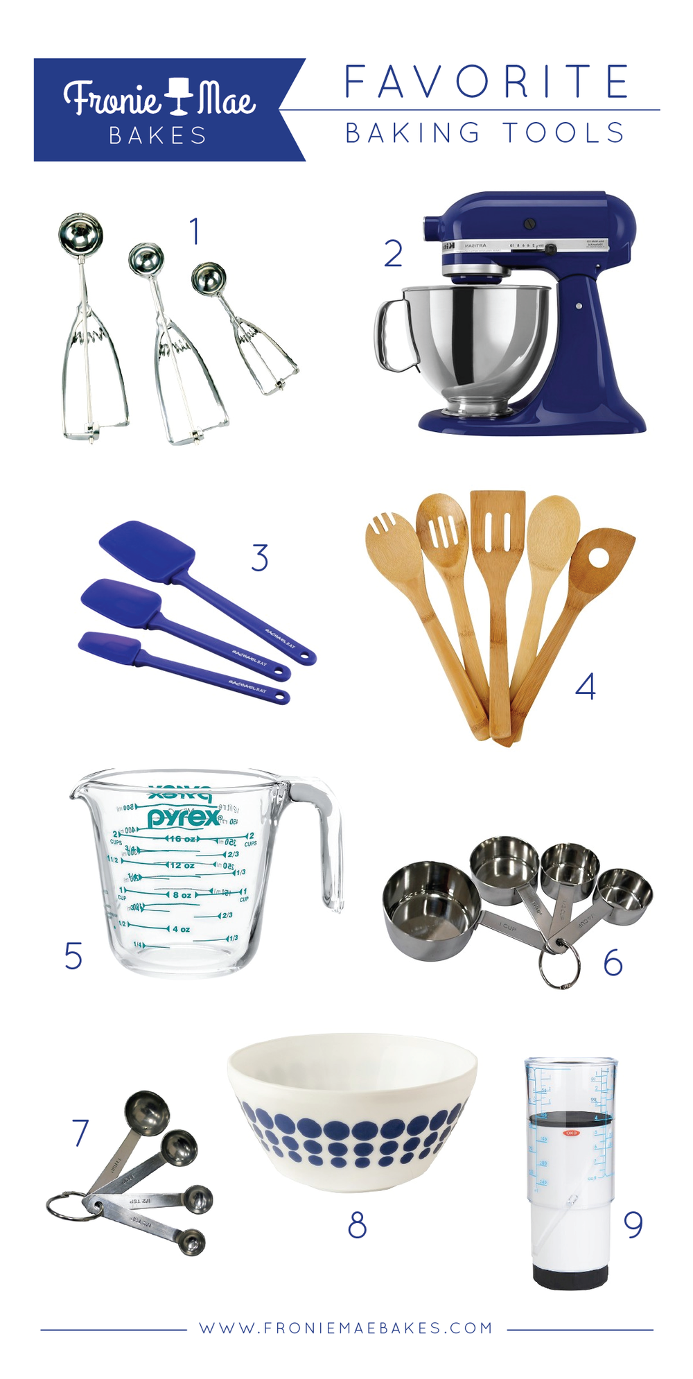 Favorite Must Have Baking Tools by Fronie Mae Bakes