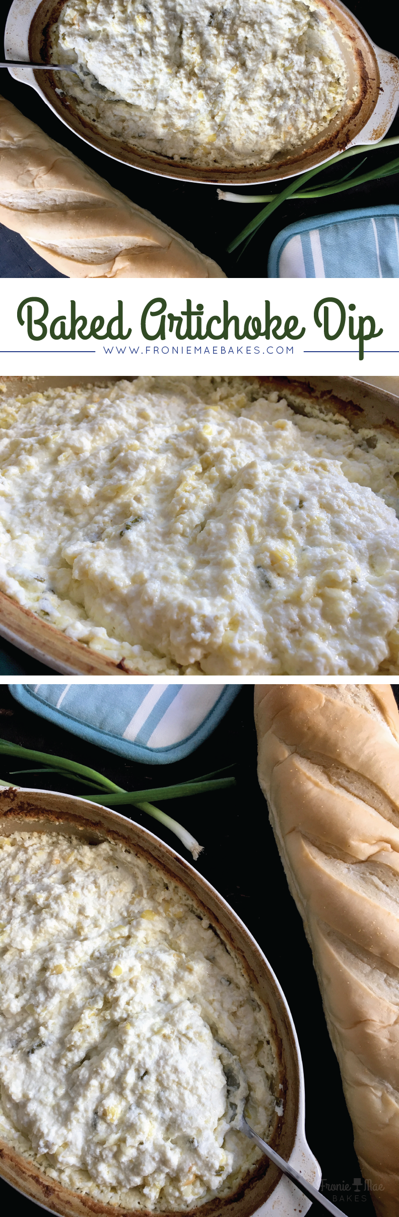 Creamy Baked Artichoke Dip by Fronie Mae Bakes