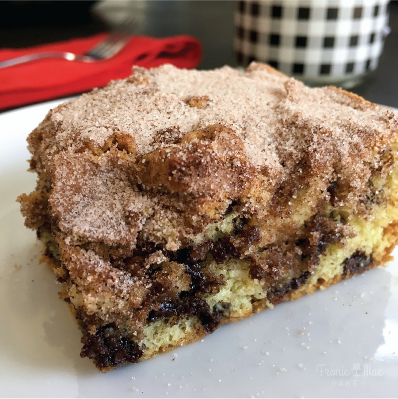 Sour Cream Chocolate Chip Coffee Cake by Fronie Mae Bakes