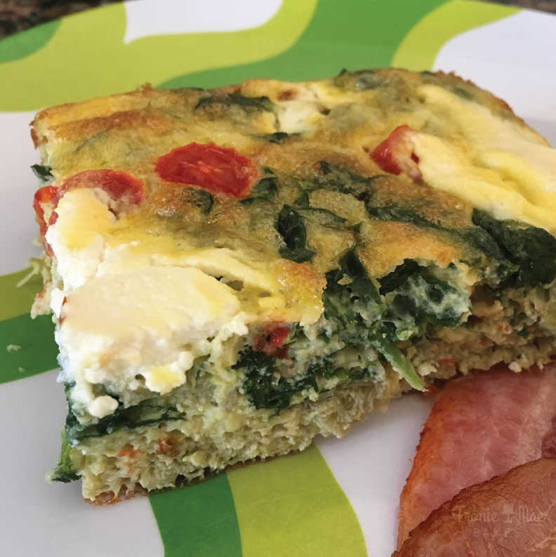 Spinach and Artichoke Breakfast Bake recipe from Fronie Mae Bakes