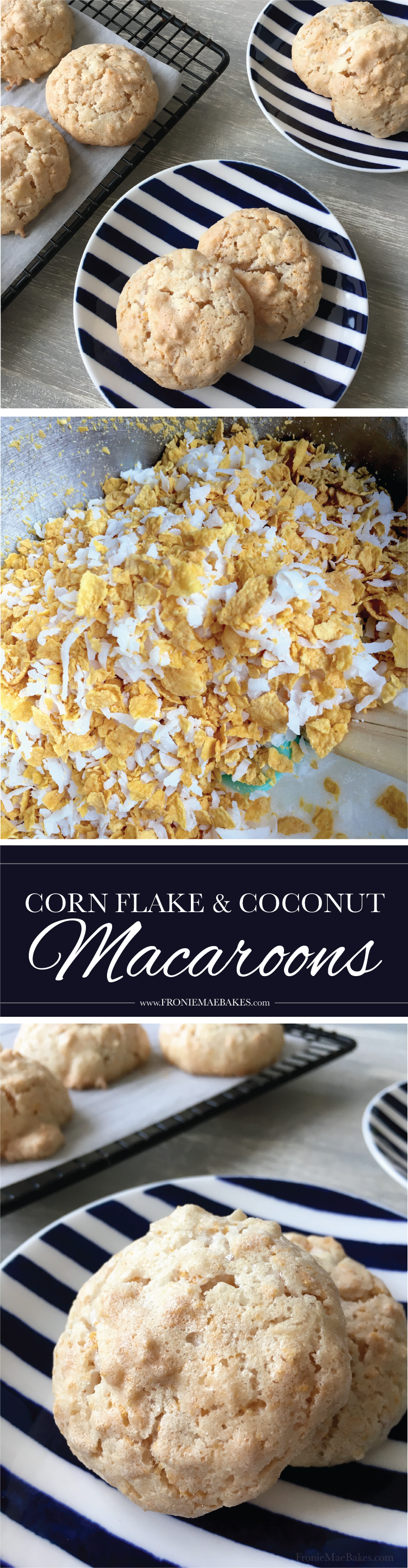 Treat yourself with these homemade Sweet Cornflake and Coconut Macaroons. Recipe on www.froniemaebakes.com