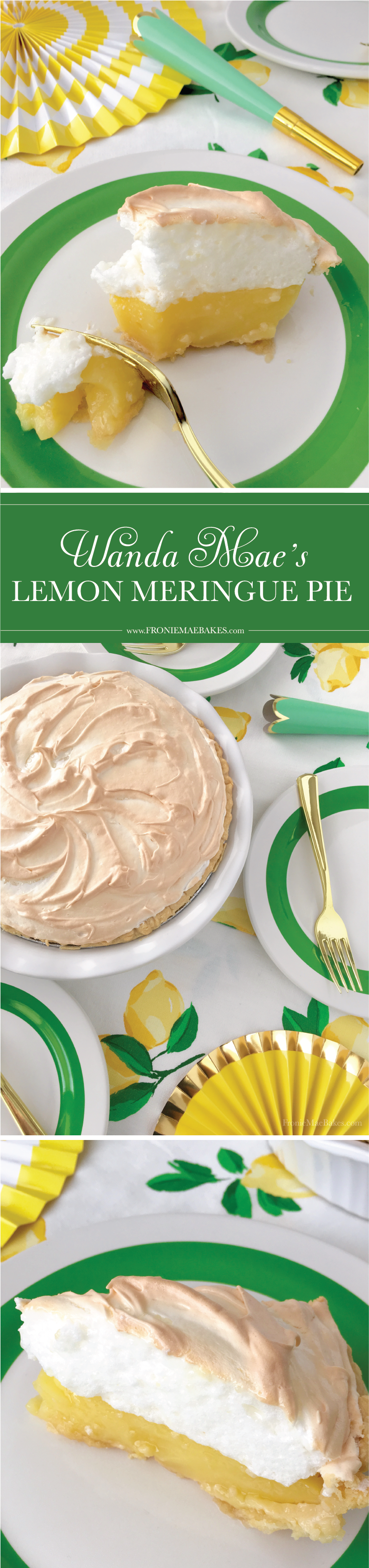 Make Wanda Mae's Homemade Lemon Meringue Pie Recipe TODAY! www.FronieMaeBakes.com