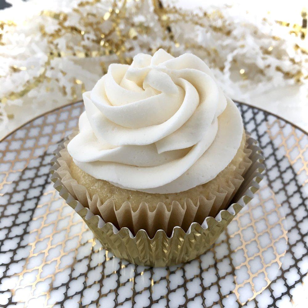 White Chocolate Truffle Cupcake FRONIE MAE BAKES