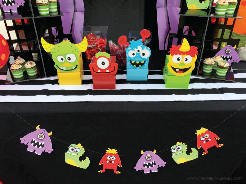 Create this cute Monster Banner in a few easy steps. www.FronieMaeBakes.com