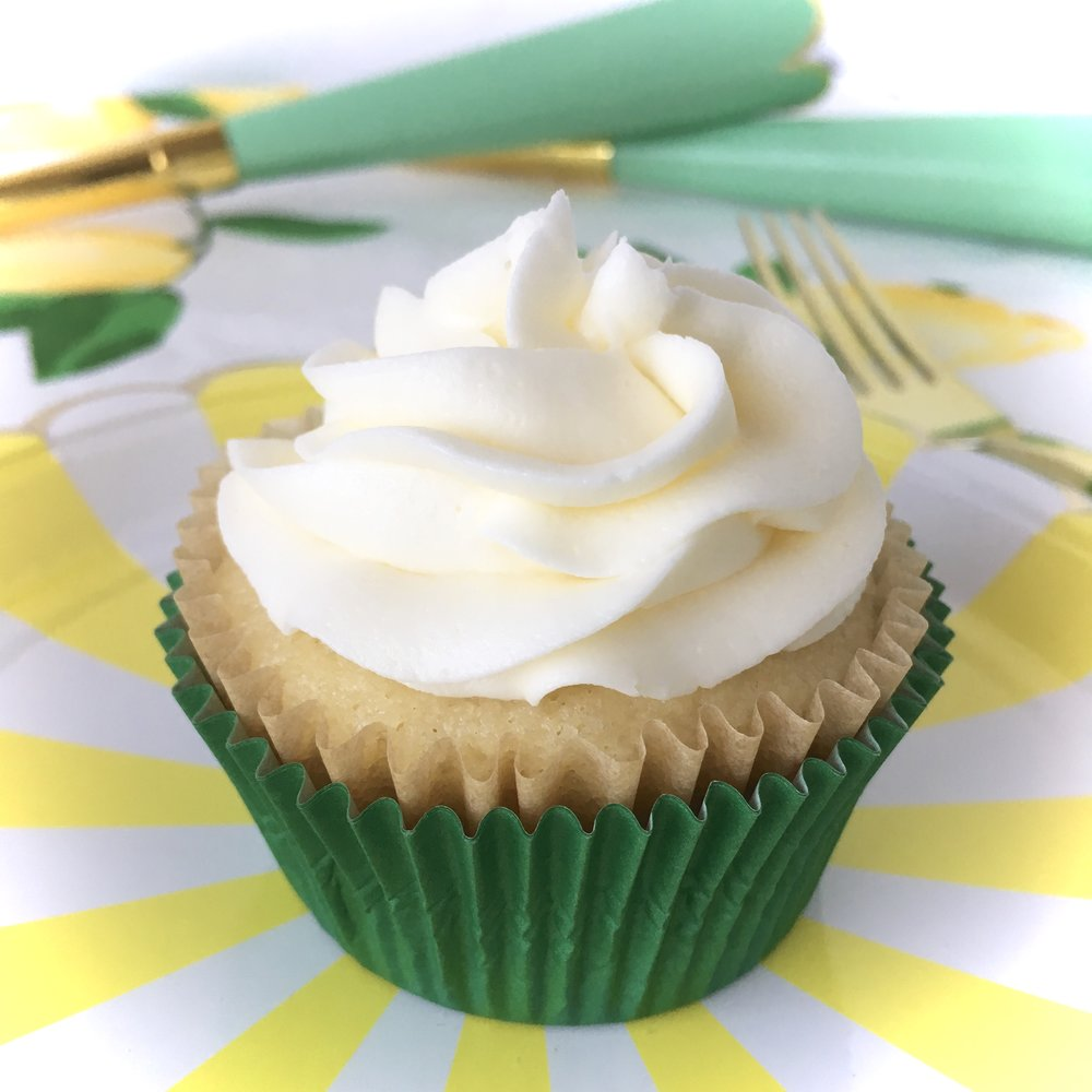 LUCKY LEMON SUNSHINE CUPCAKE BY FRONIE MAE BAKES