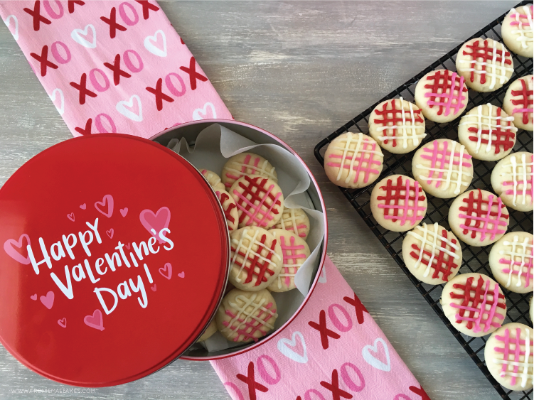 Plaid Valentine Melting Moments are the perfect cookie to make and hand out to your sweeties.