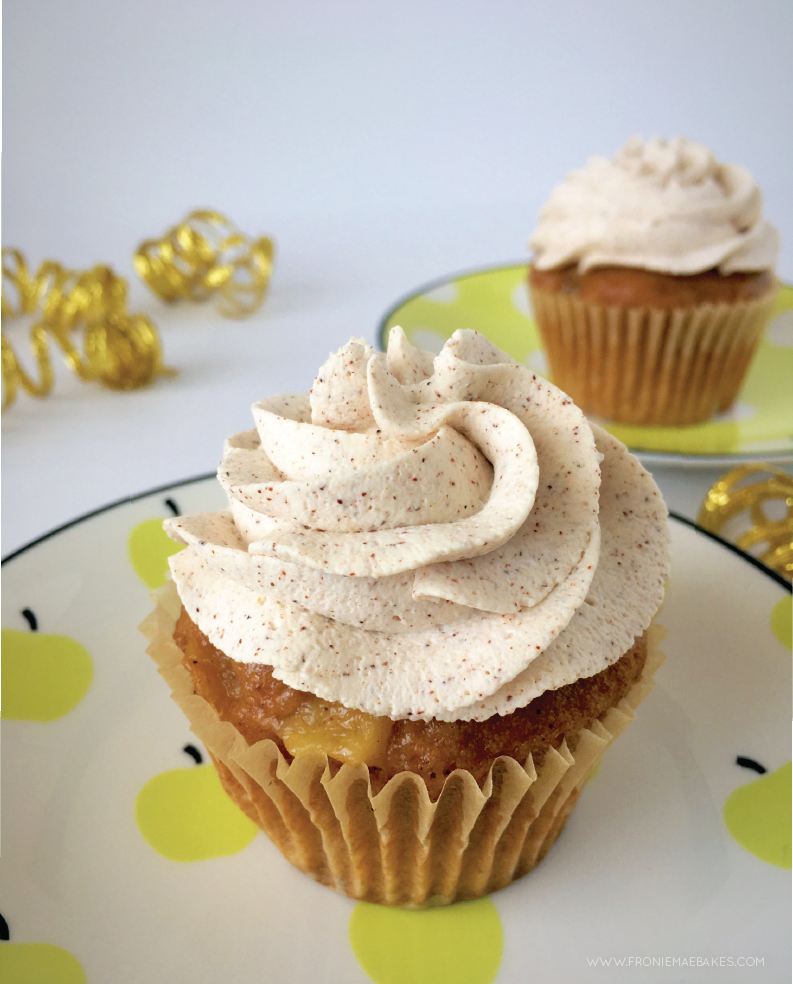 Make these Easy Spiced Apple Cupcakes with Cinnamon Whipped Cream in a snap. Find the recipe at www.FronieMaeBakes.com