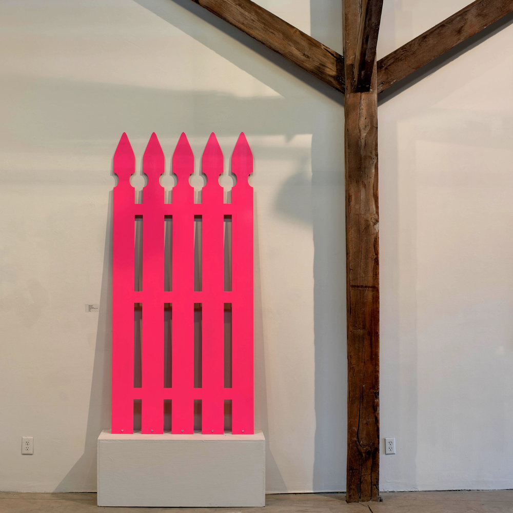 Picket Fence Didi Dunphy  Athens, GA Powder Coated Steel and Cubic Zirconia  2016 $1800