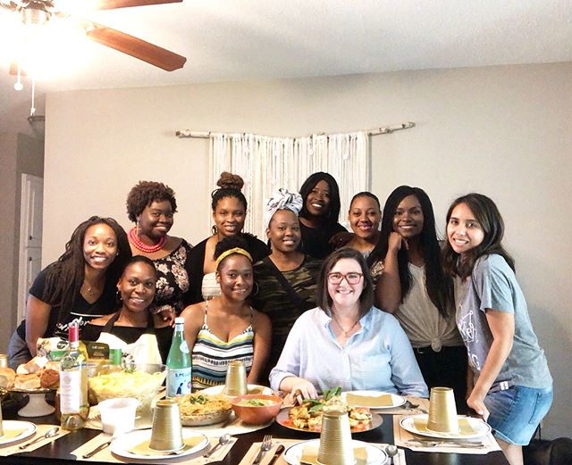 "Inspired by @sniequist 's Bread & Wine book, I had these lovely @openseat ladies over earlier today to cook and eat together at home. The theme was ""Italian Summer"", and it was fun! Wishing everyone an awesome weekend ❤️ #OpenSeat #Community"