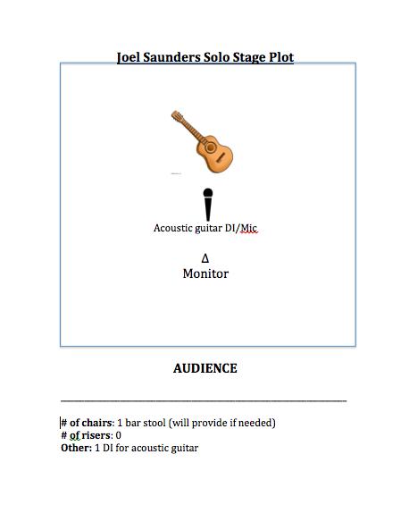 Joel Saunders Stage Plot (solo)