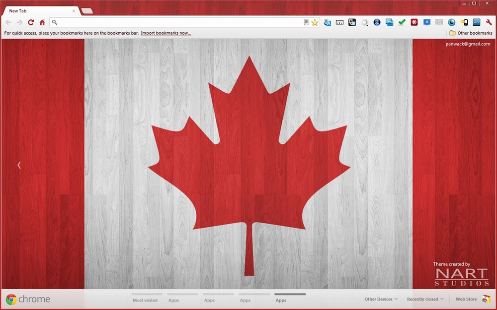 Canadian Wood Theme Screenshot.png