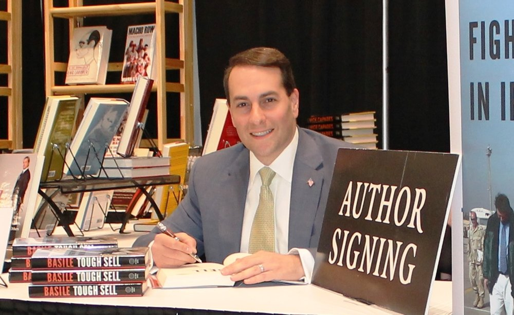 Basile at the 2017 National Book Expo in New York