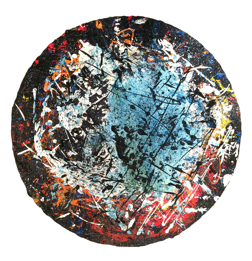 "Untitled    Oil on canvas  20"" diameter"
