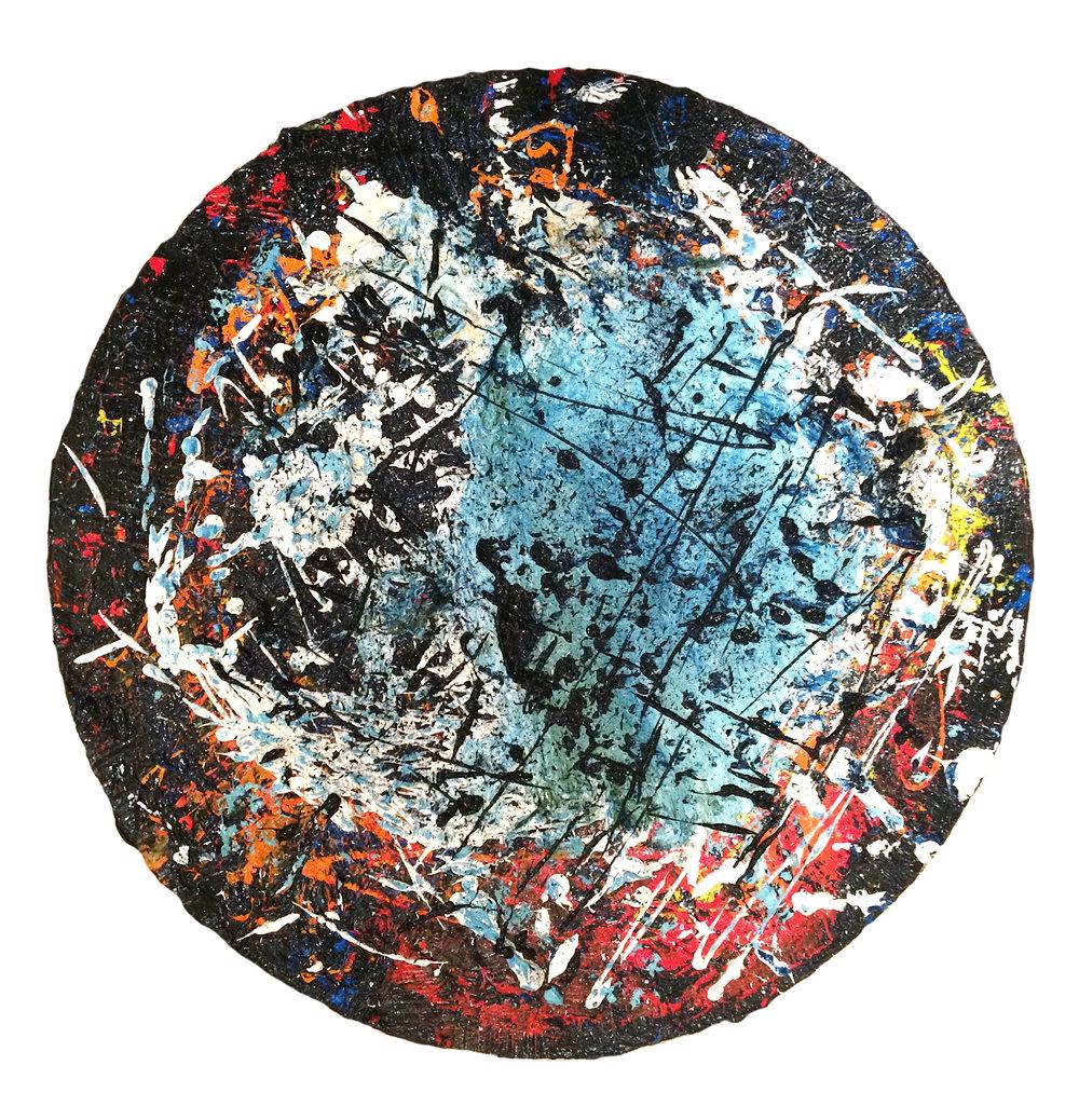 "Untitled    Oil on canvas  20"" diameter"