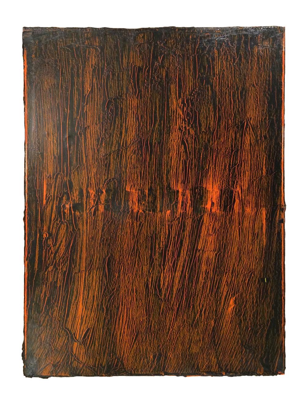 Orange Code    Oil on canvas  24 x 18 inches