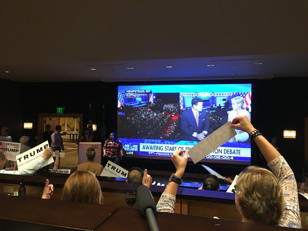 Seattle, Washington: September 26 2016.The Seattle Republican viewing party of the first presidential debate in September. Photo: Hebah Fisher