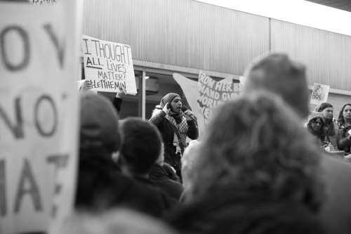 Protest against refugee deportation and Trump's Immigration Ban Executive Order. Philadelphia International Airport
