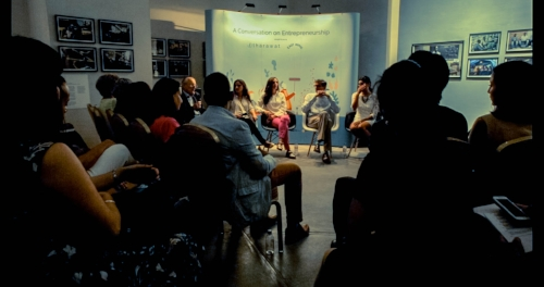 Photo Credit: Conversations in Entrepreneurship,  Tharawat Magazine ,  Dubai. October 2015