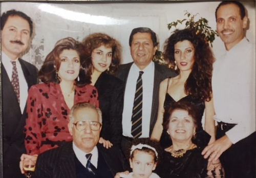 1991 Washington  Back row: My dad Yasir, my mom Amal, my aunt May (dad's sister), my grand uncle, my aunt Marjan, my uncle Anas.  Front row: My grandfather Ahmed, my grandmother Suad, and my cousin Laela (Anas and Marjan's daughter)