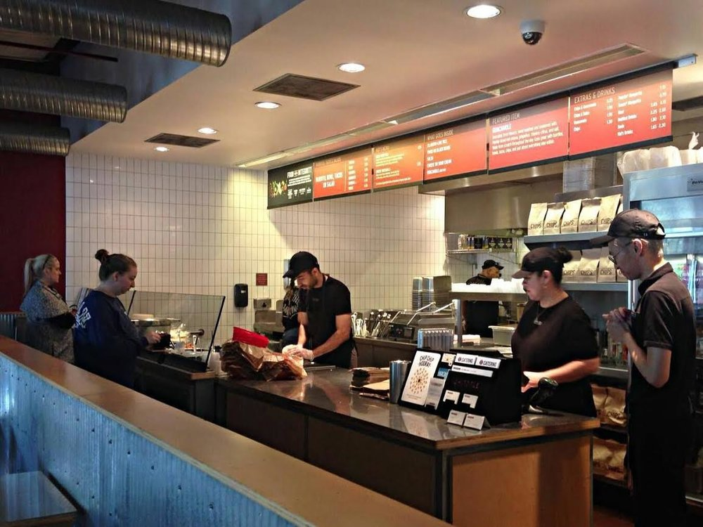 Ihsan working at Chipotle, Dallas