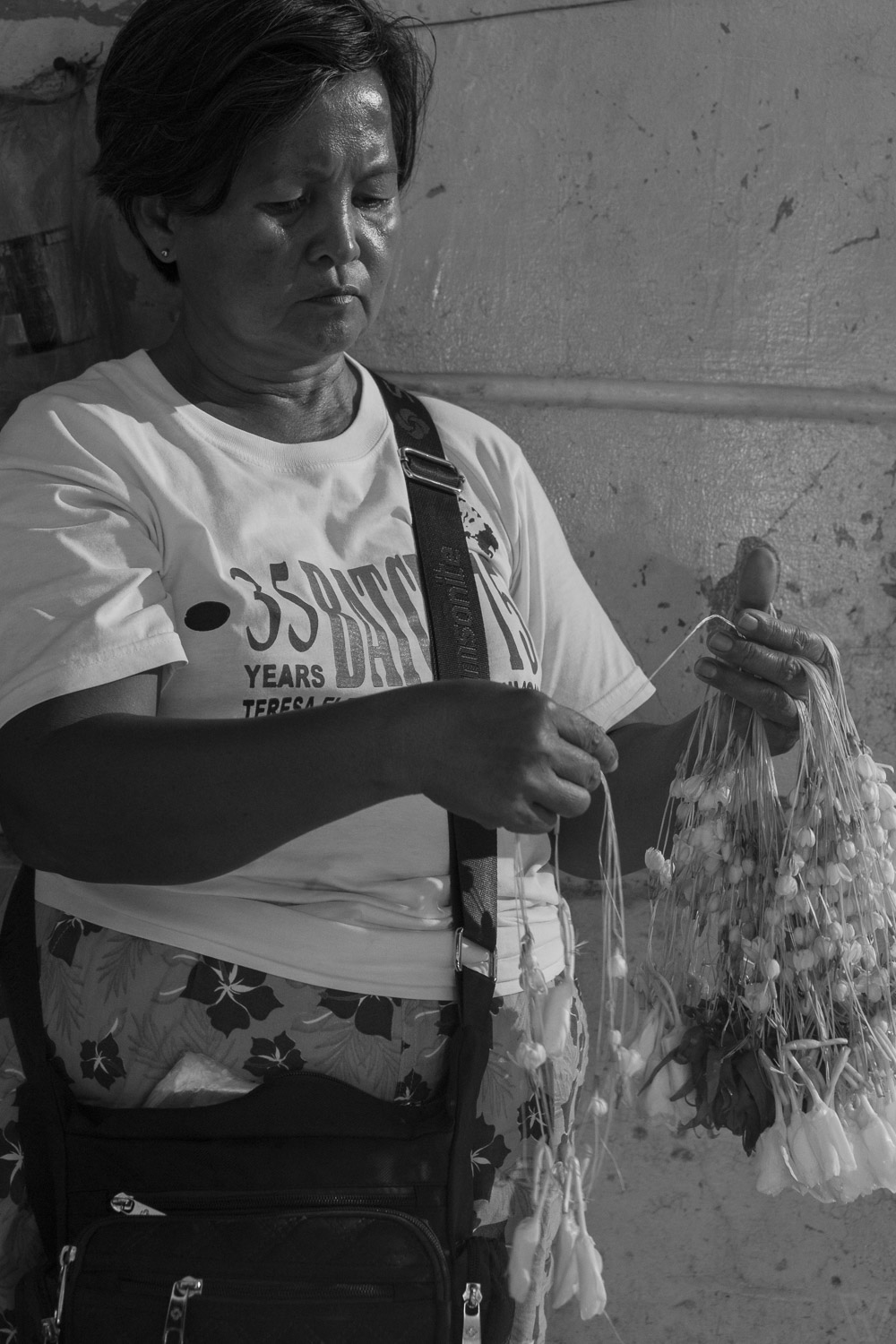 Selling Sampaguita on the streets