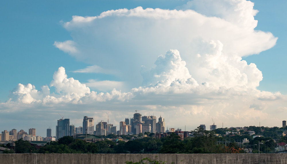 Clouds over Ortigas.