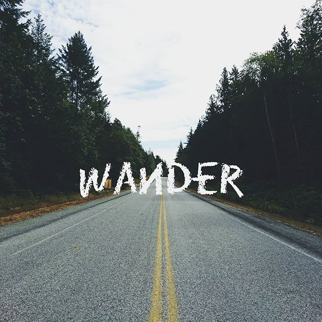 Those who wander doesn't always mean their lost.