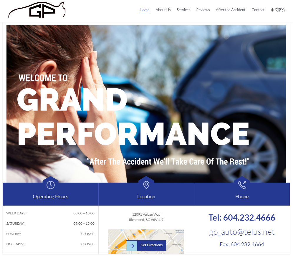 Grand Performance - Here at Grand Performance Auto Centre, with our broad spectrum of clients starting from working professionals, car fleets, rental companies and the likes, we assure to provide all our customers high quality and exceptional service you cannot get anywhere else. We provide competitive prices on all our outstanding products and also offers price match on any competitors' written estimate. Your number 1 Choice for Collision Auto Body and Mechanical Repair Center in Vancouver, BC. We serve Richmond, BC.