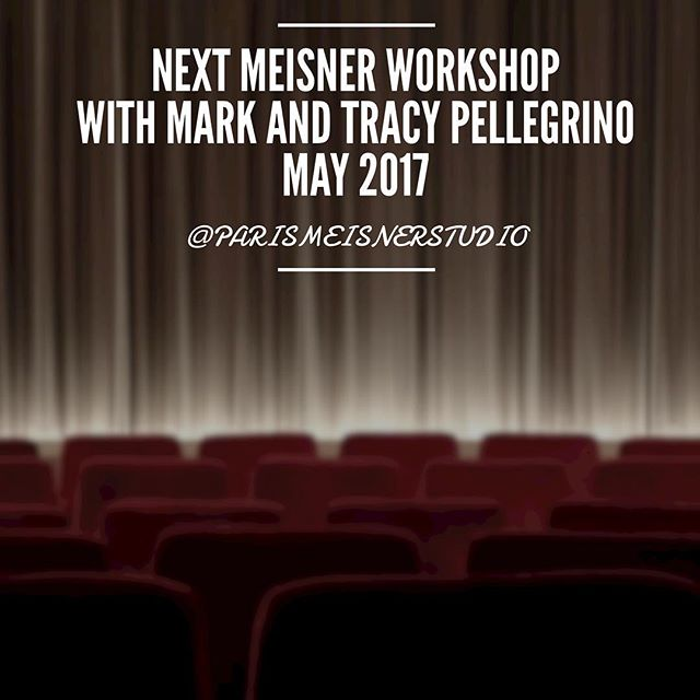 🎁 Mark and Tracy Pellegrino 👉 @markrosspelle will be teaching in Paris with us in May (1st-7th) 🎥🎭💙 | 3 classes : 5 days morning or afternoon OR week-end intensive | 😻 There are a few seats left to enroll now at a cheaper price 👉📧 parismeisnerstudio@gmail.com (or contact button in bio 👆)