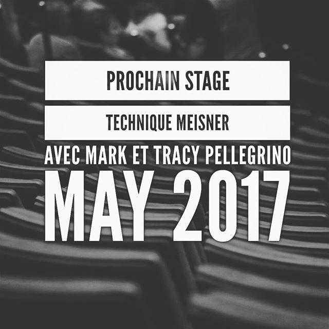 🎁 Prochain Meisner Workshop avec Mark et Tracy Pellegrino 👉 @markrosspelle : Mai 2017 | 3 groupes possibles pour ce stage : du 1er au 5 mai matin ou après-midi OU week-end intensif du 6 et 7 mai 🎭📚🎥 | Pour plus d'information ou réserver l'une des dernières places : parismeisnerstudio.fr (👆 lien en bio) | pour assister à la FREE CLASS ou être AUDITEUR à ce stage 👉📧 parismeisnerstudio@gmail.com