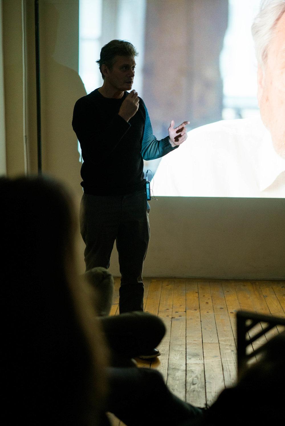 Chris Mack teaching acting