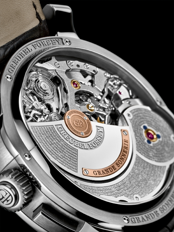 View of the movement of the Grande Sonnerie by Greubel Forsey