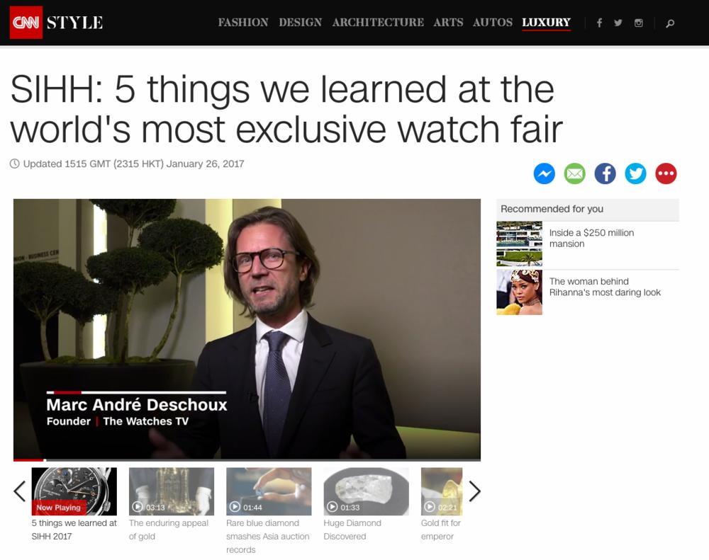 Marc André Deschoux on CNN Style