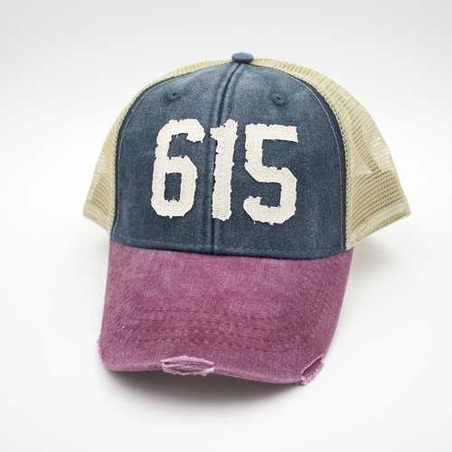80f6759c 615 Nashville Tennessee area code trucker hat