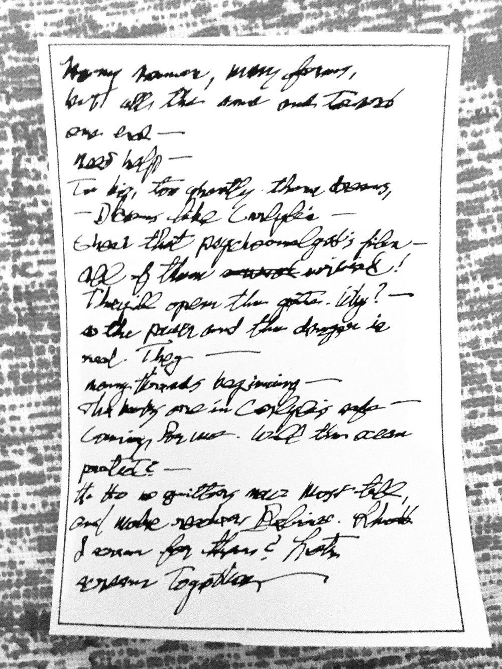 Brev skickat från Jackson till Jonah i december 1924