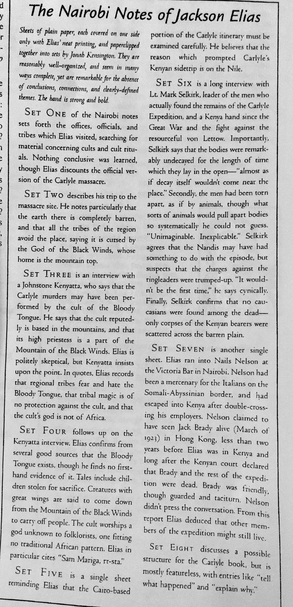 Sammandrag av Jackson Elias brev till Jonah Kensington under Jacksons tid i Nairobi