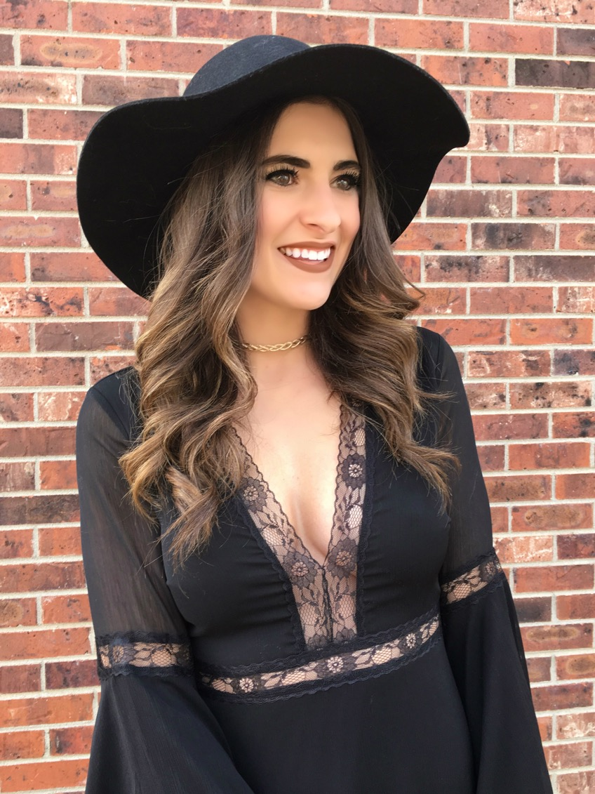 SPELL CHECK BLACK LACE LONG SLEEVE DRESS FROM LULU'S