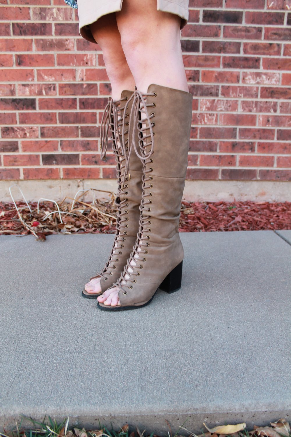 Knee High Lace Up Boots from Forever 21