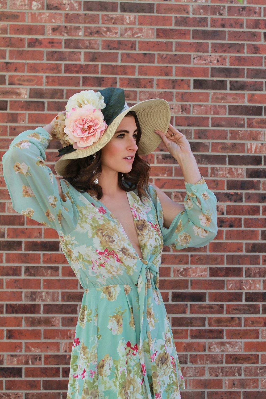 Rosa Palooza Mint Floral Dress from Lulu's