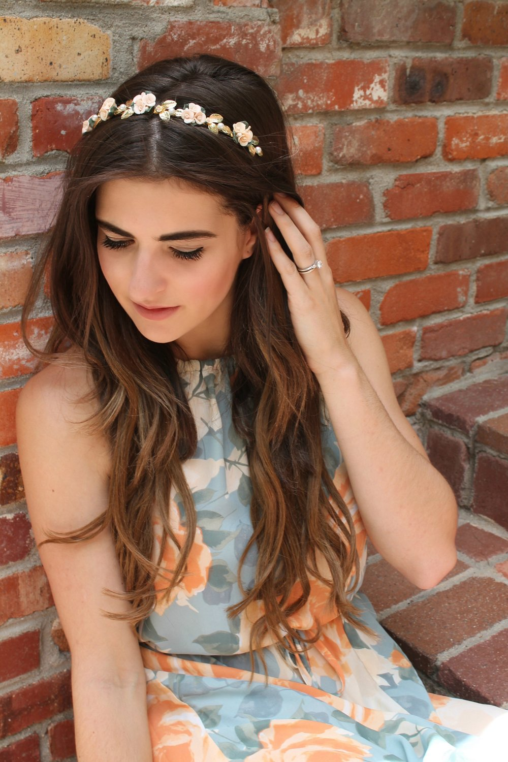 Faux Pearl Floral Headband from Forever 21