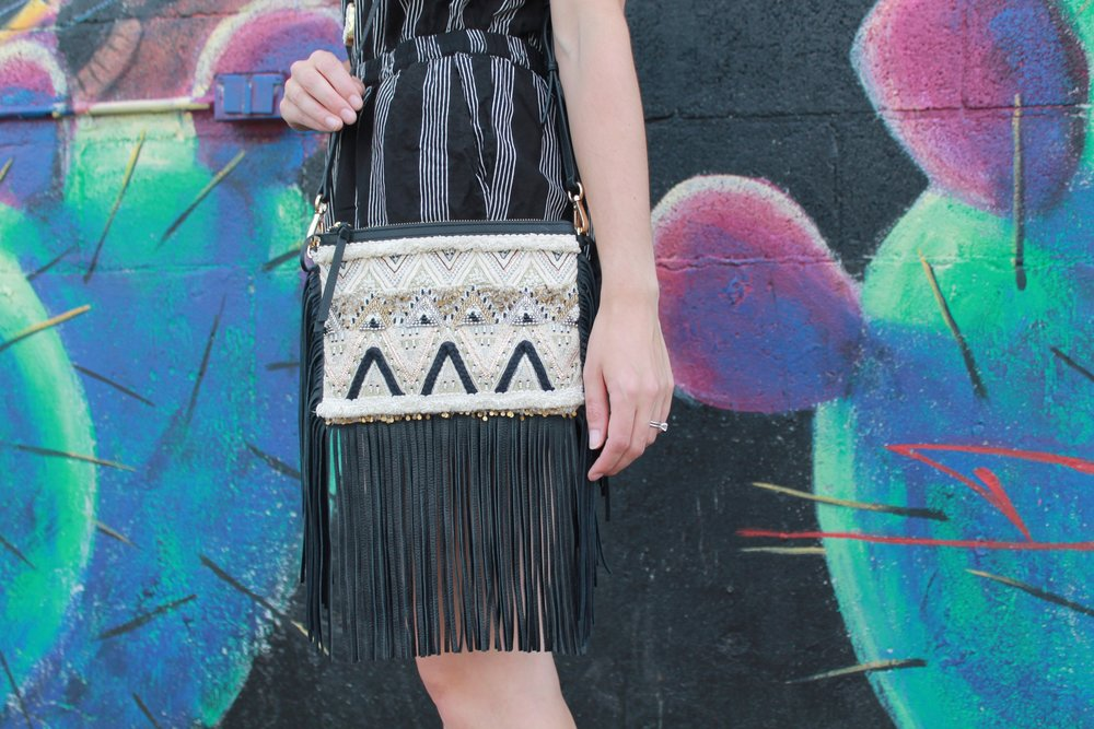 Rebecca Minkoff Taj with Fringe Cross-Body Bag