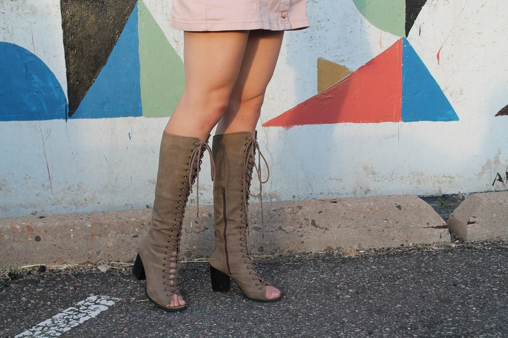 Similar Suede Lace Up Boots from Forever 21