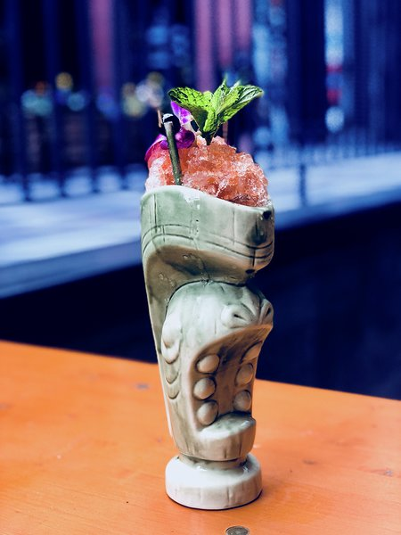 Zombie - Where to find me: Poka Lola, Denver, COWhat's in me: Rum, falernum, cinnamon, grenadine, citrusWhen to enjoy me: Happy hour
