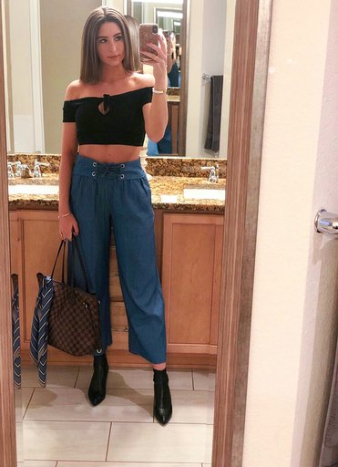 OOTD/OOTN - Occasion: Influencer lunch at DC Pie & Revel SocialFebruary 2019Outfit Details:Crop & PantsNeverfull MMI.N.C. Bray Sock Booties, Created for Macy's