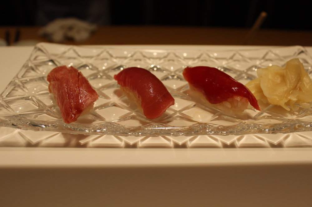 9, 10, and 11. Tuna from Fatty to Lean (Left to right)
